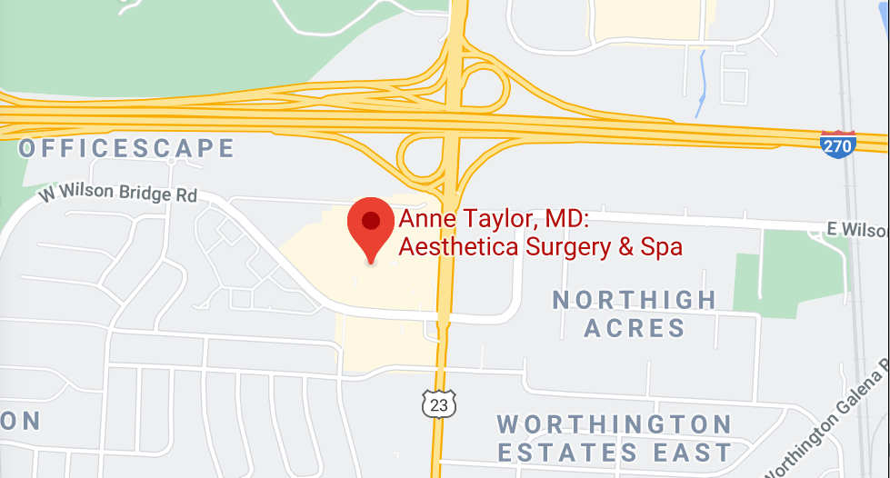 Google Map of Aesthetica Surgery and Spa in Columbus, OH